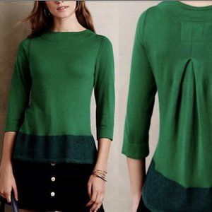 Anthropologie Angel Of The North  Green Sweater